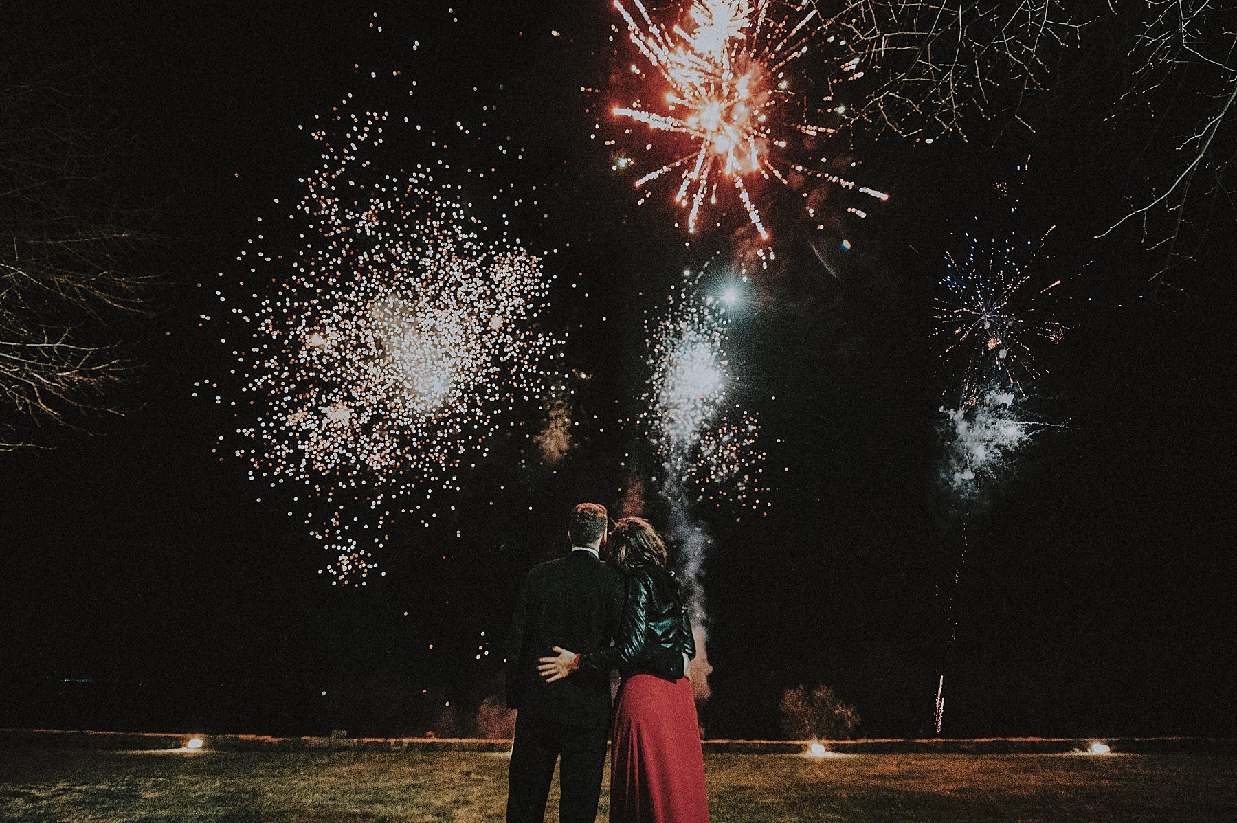 fuochi d'artificio al matrimonio