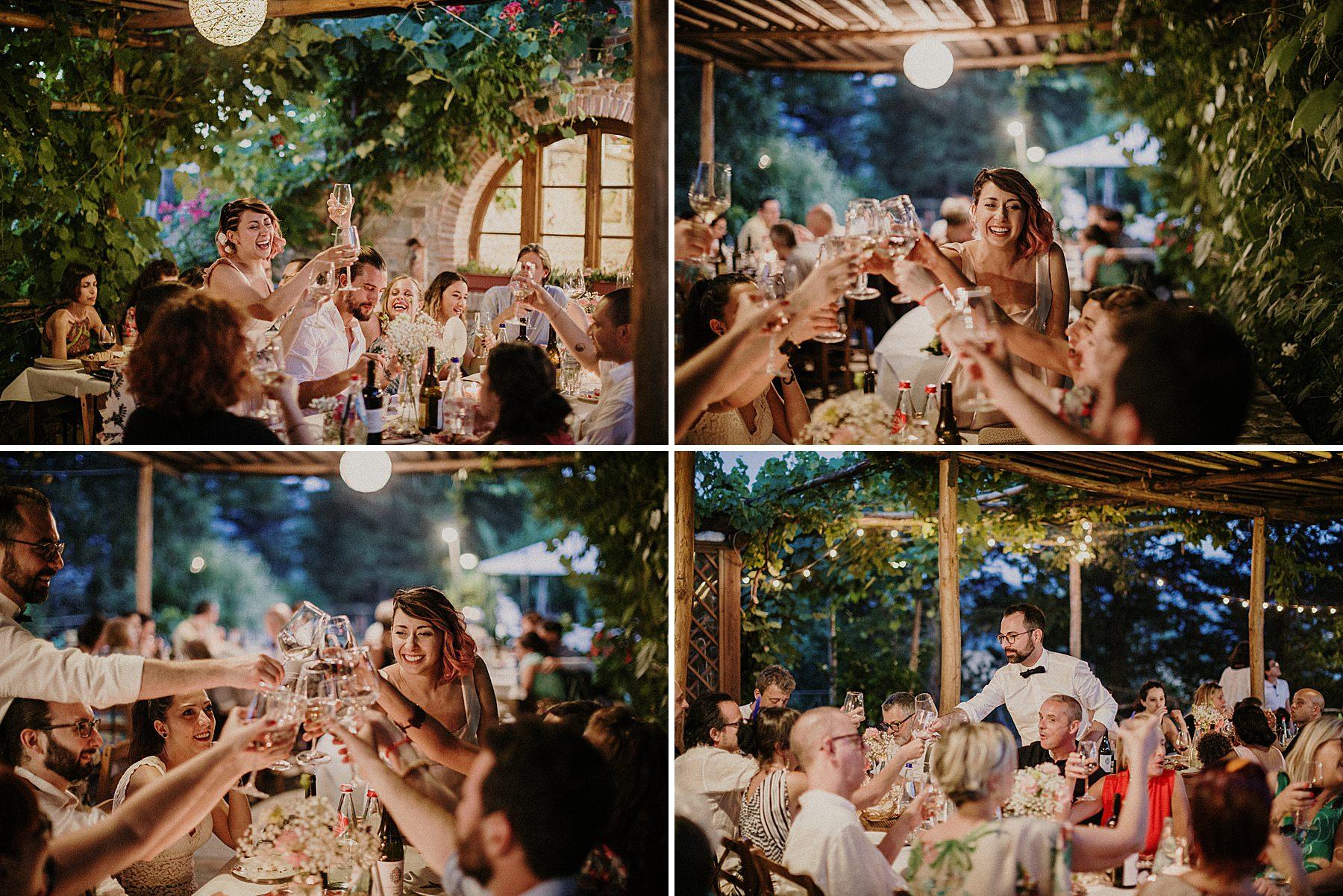 Cena di matrimonio all' Agriturismo la Colombaia