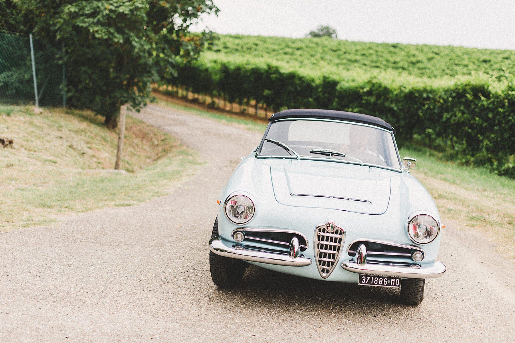 auto epoca italiana per matrimonio alfa romeo