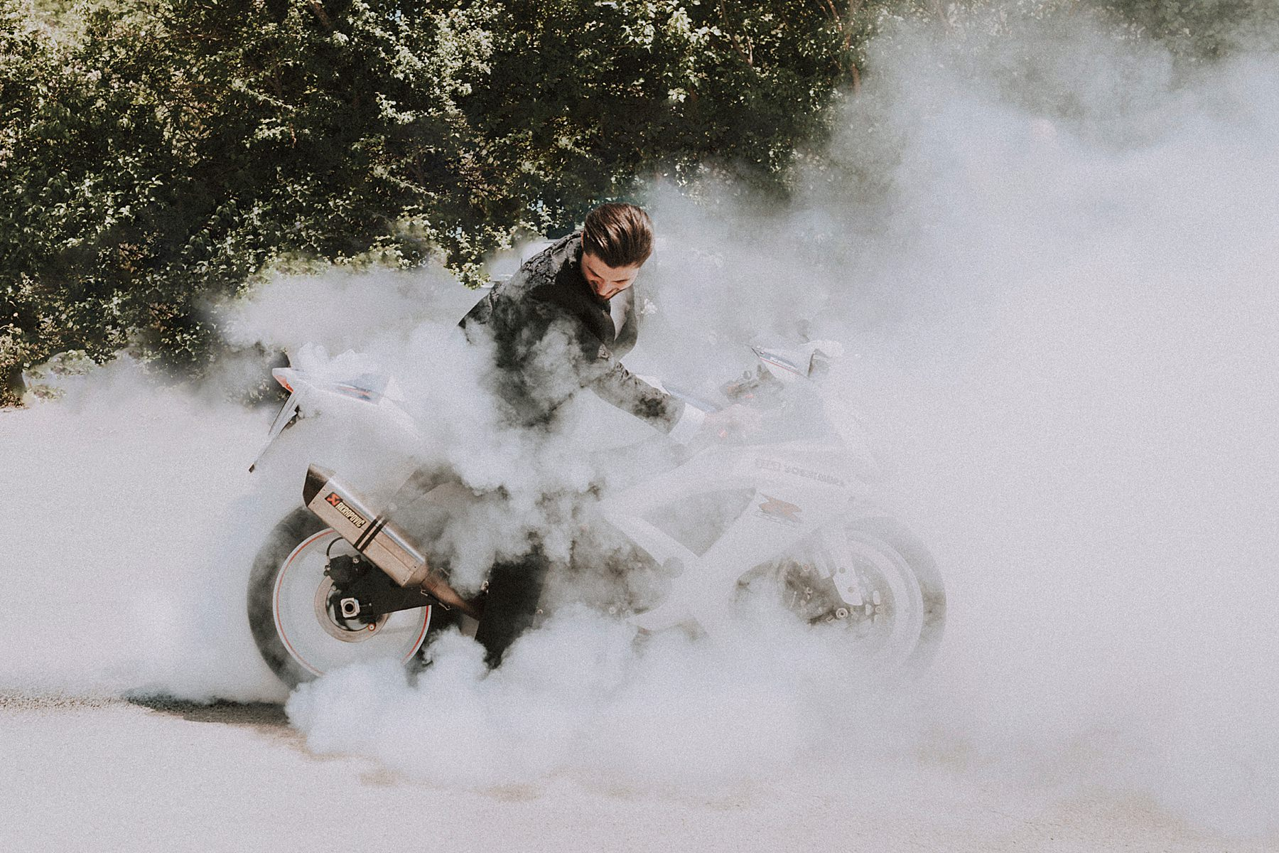 sposo in moto