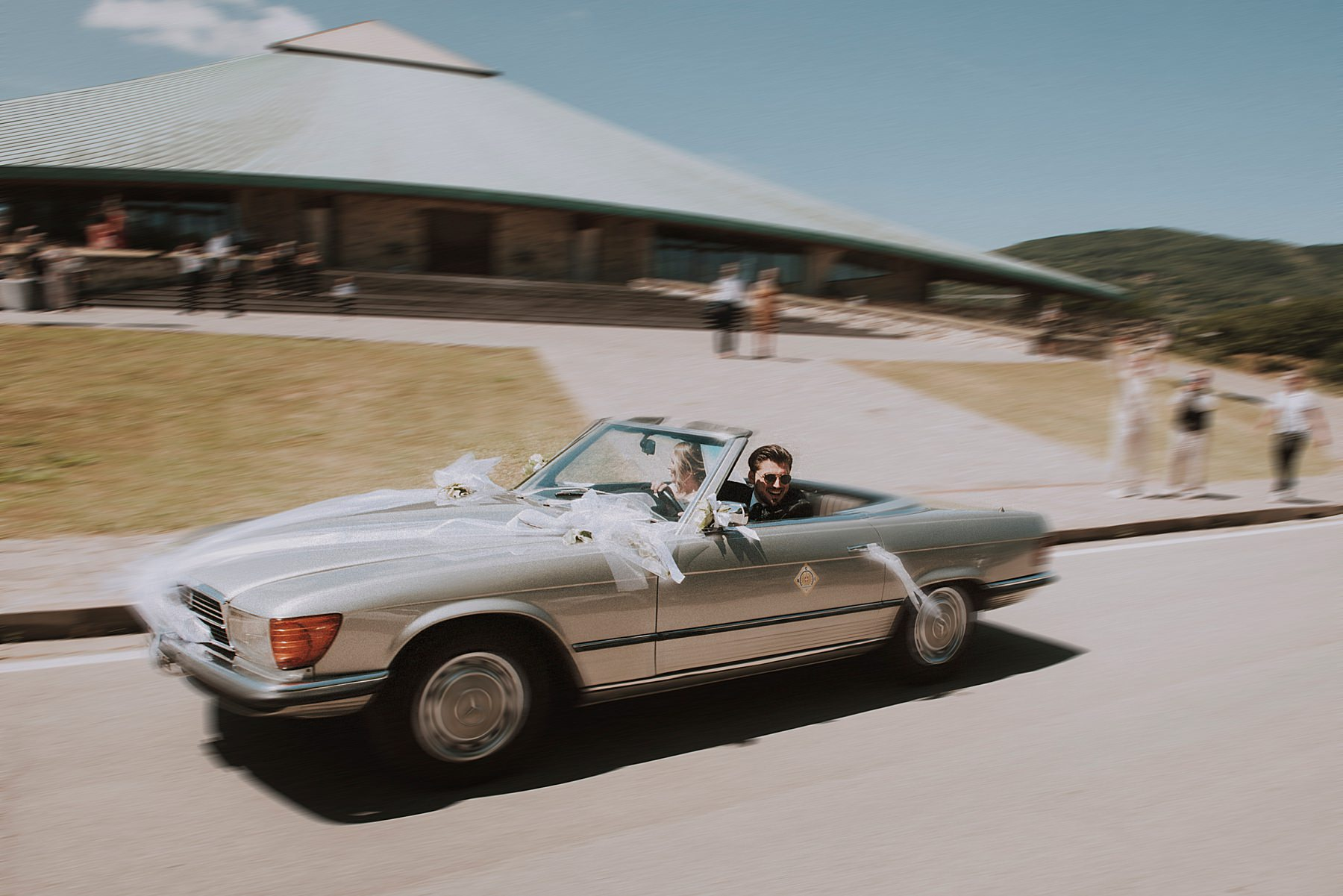 sposi in mercedes cabrio
