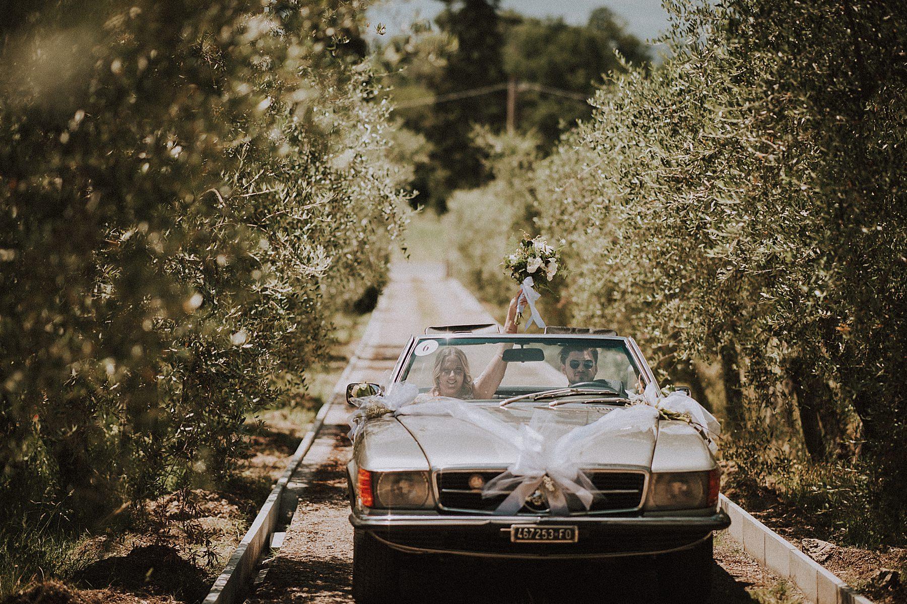 auto matrimonio mercedes cabrio