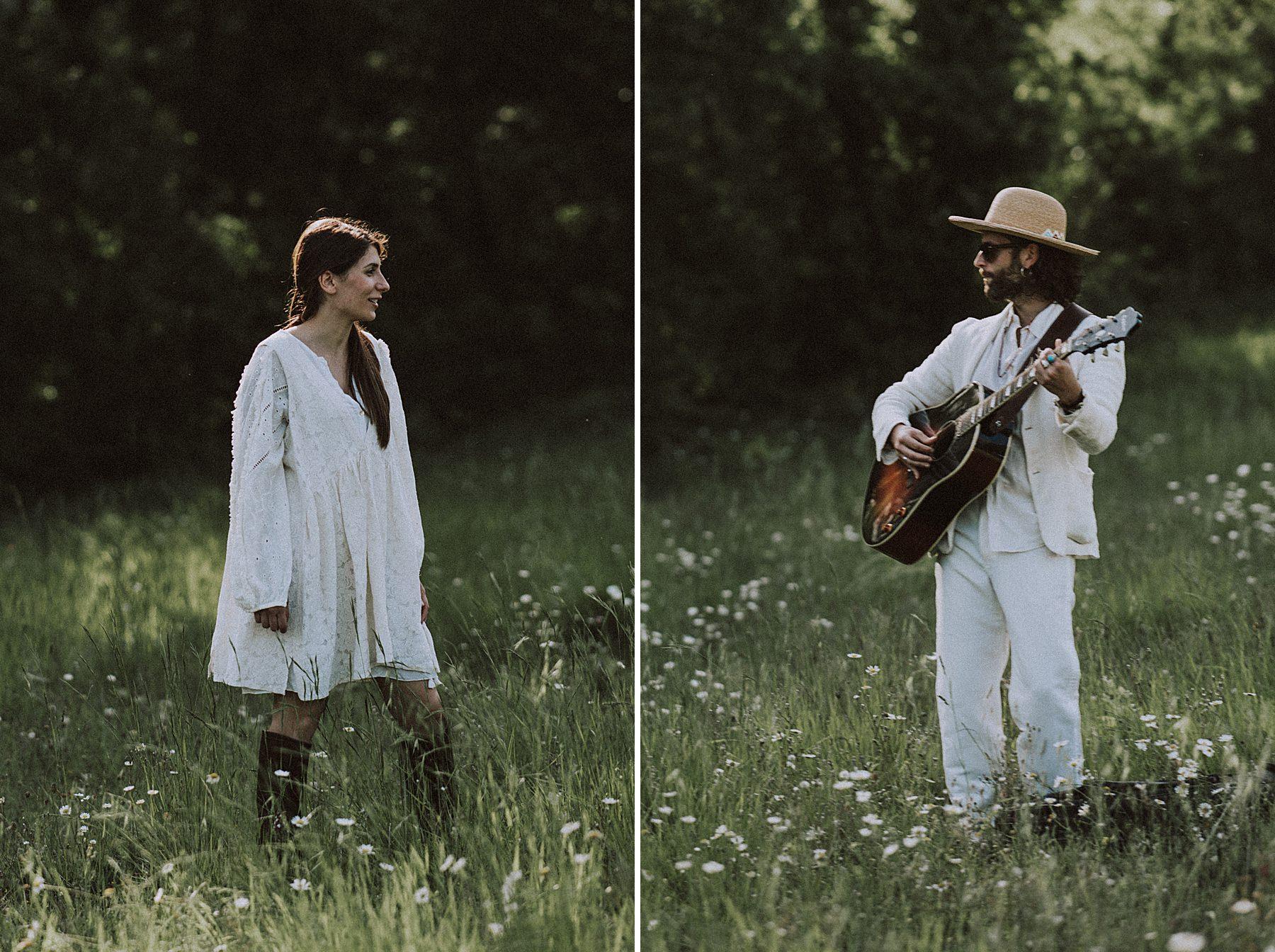 servizio fotografico di coppia vestita di bianco