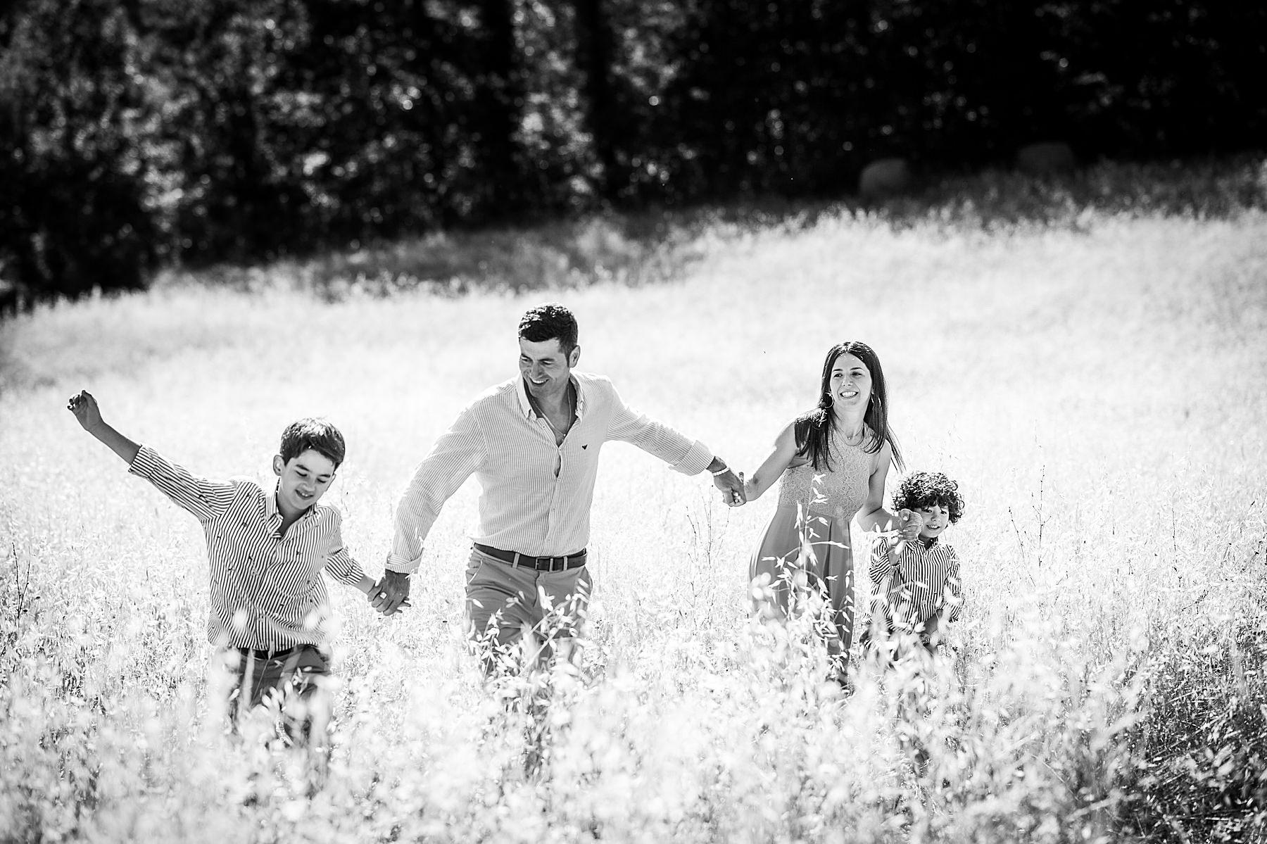 servizio fotografico di famiglia con bambini