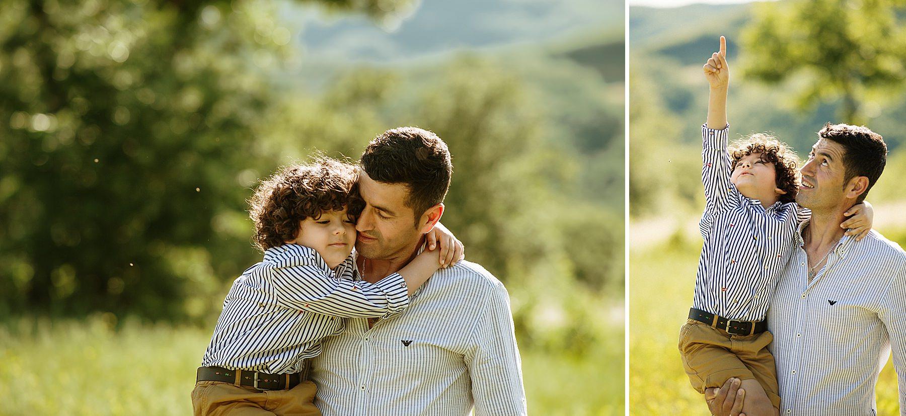 servizio fotografico padre e figlio