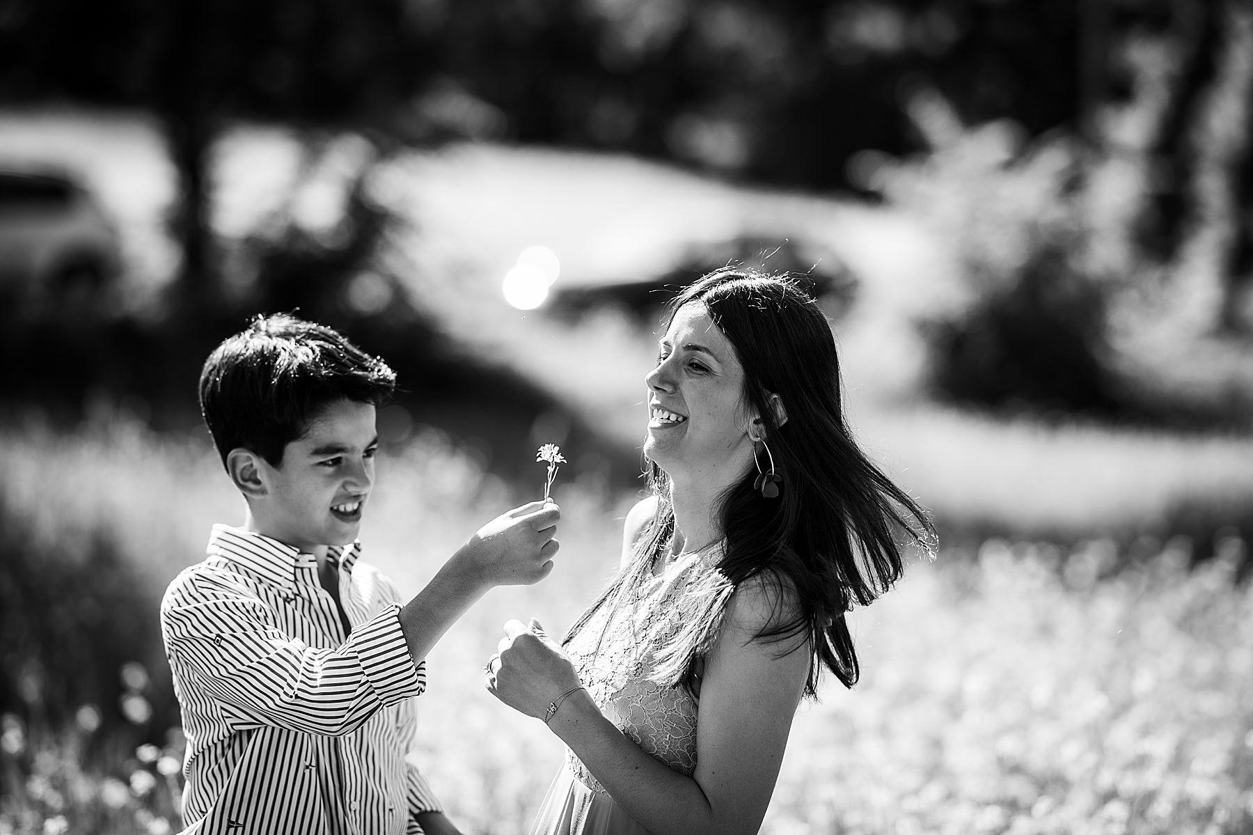 servizio fotografico madre e figlio