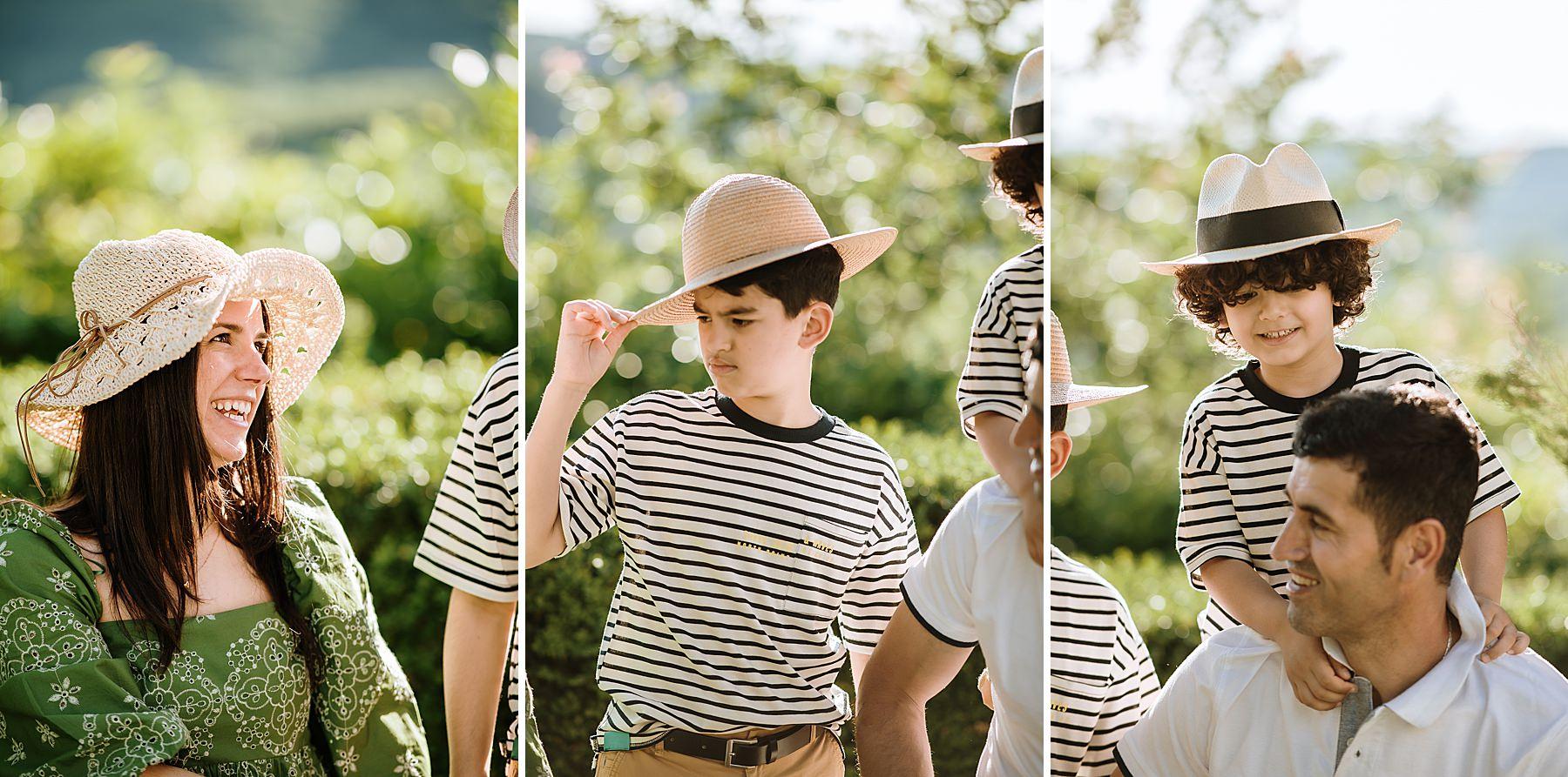 servizio fotografico cappello di paglia