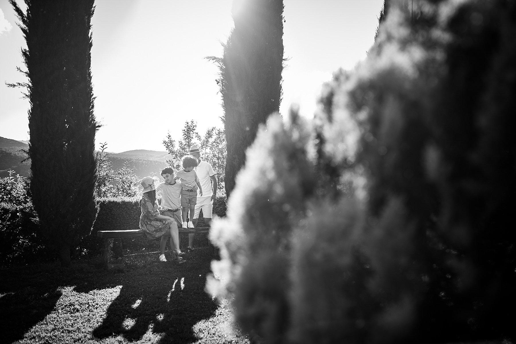 foto di famiglia in bianco e nero
