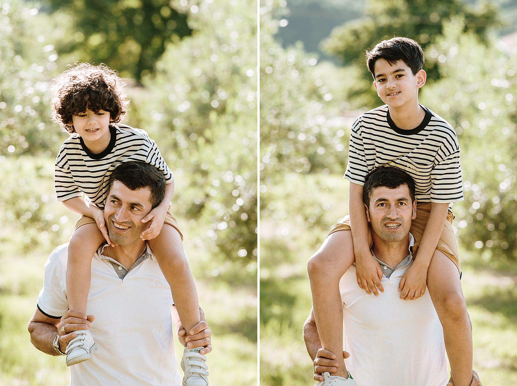 foto di famiglia babbo e figlio
