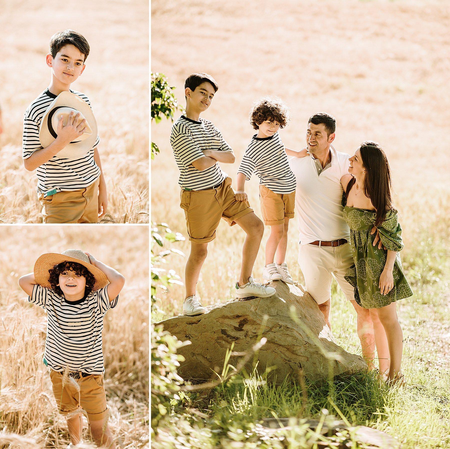 foto di famiglia nel grano in mugello