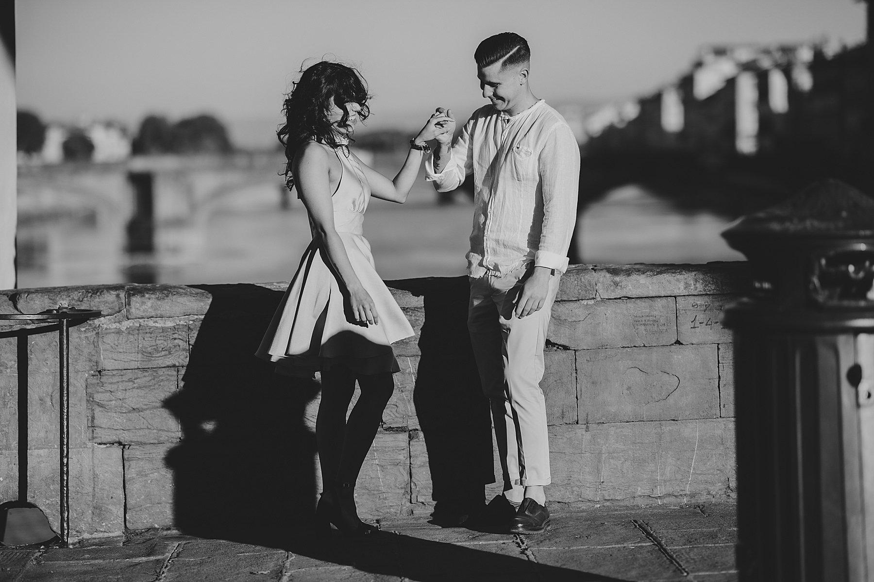 fotografia di coppia firenze pontevecchio