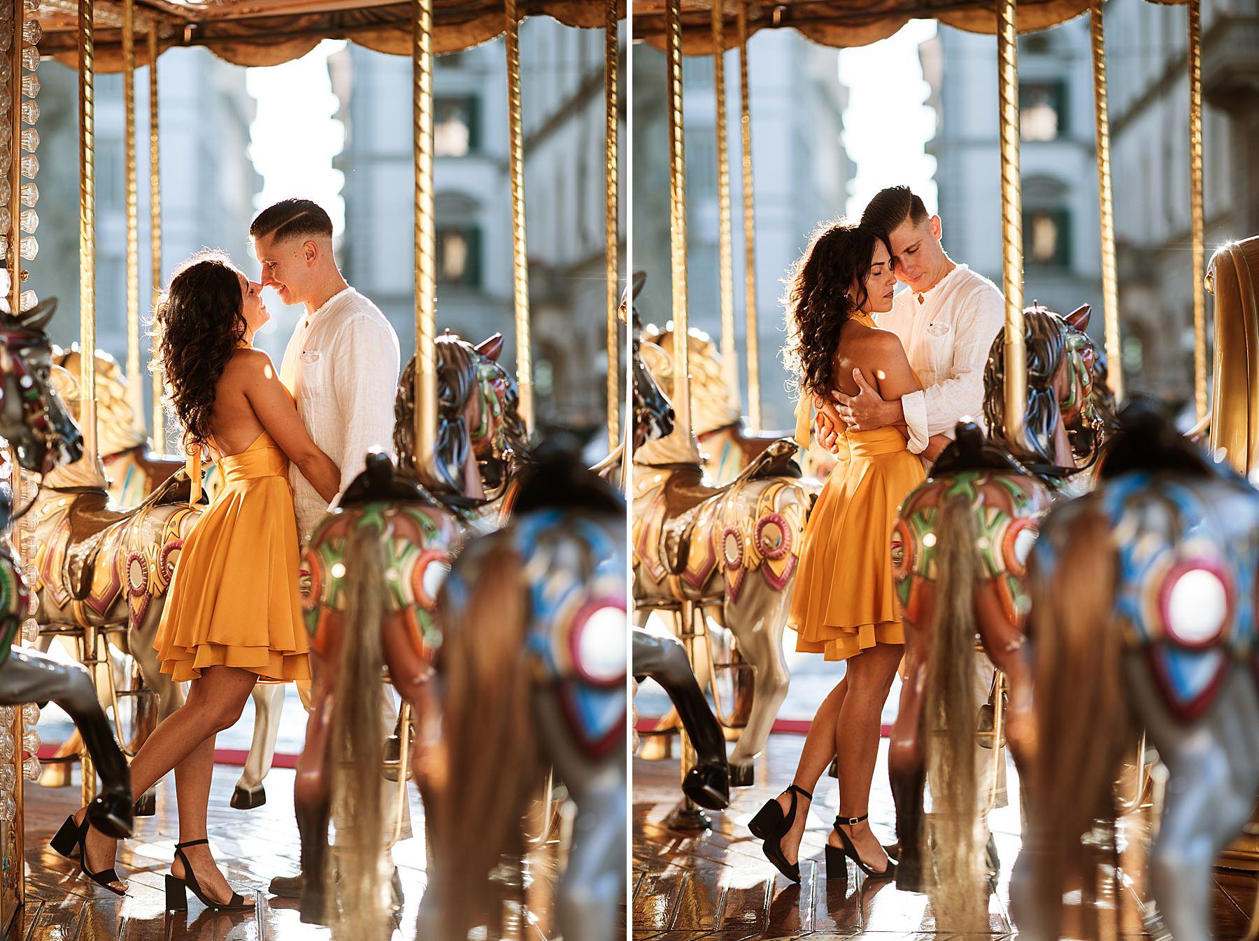 foto di coppia firenze giostra piazza repubblica