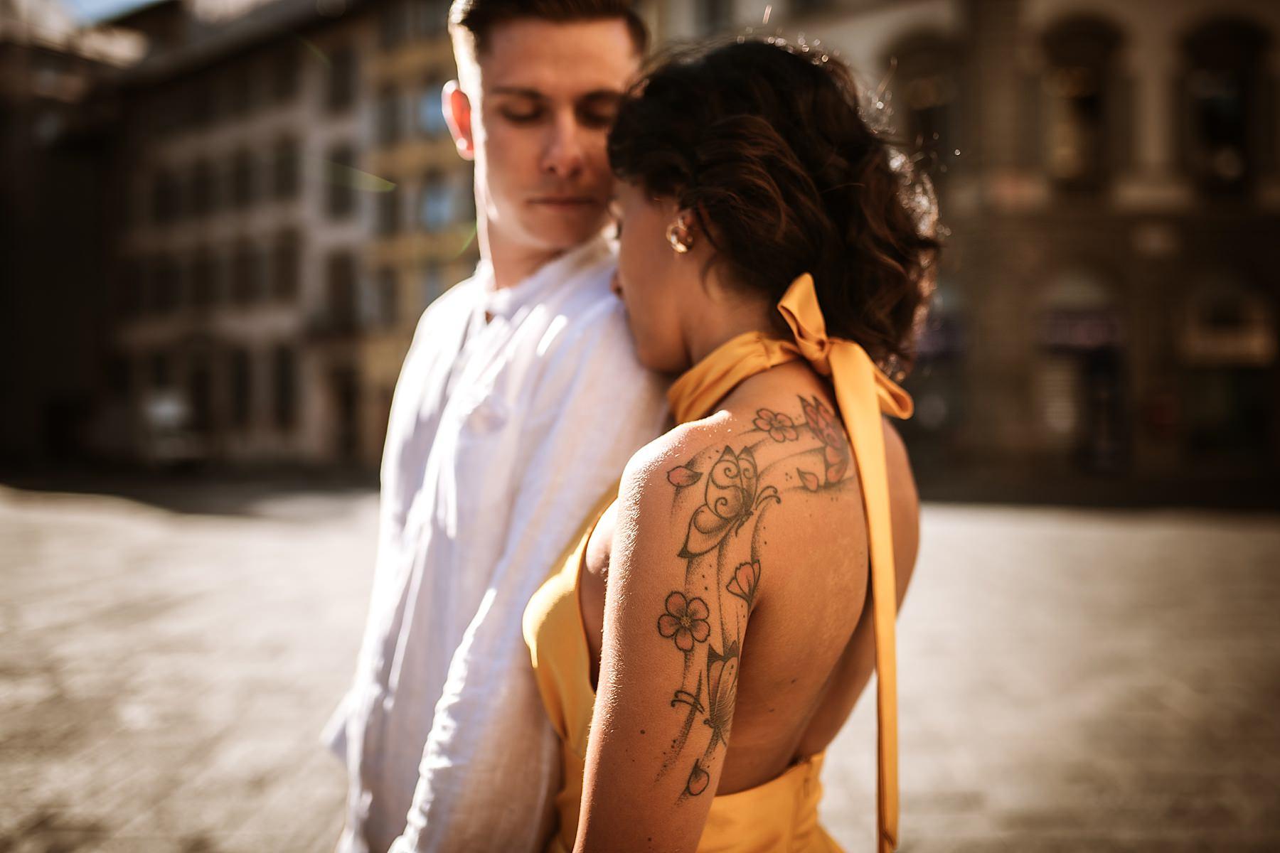 foto di coppia firenze in centro romantiche all alba
