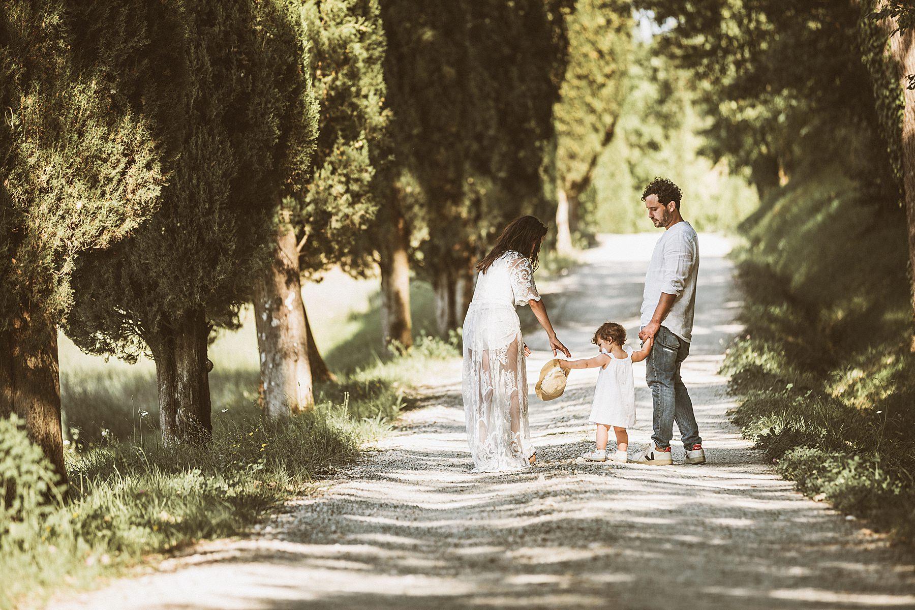 sessione di famiglia nelle campagne del mugello