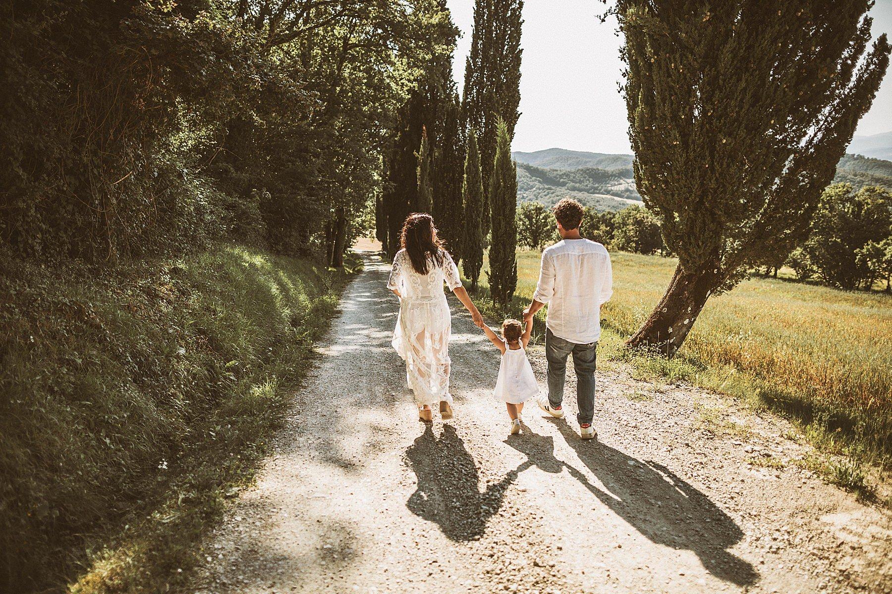 foto di famiglia nelle campagne di firenze