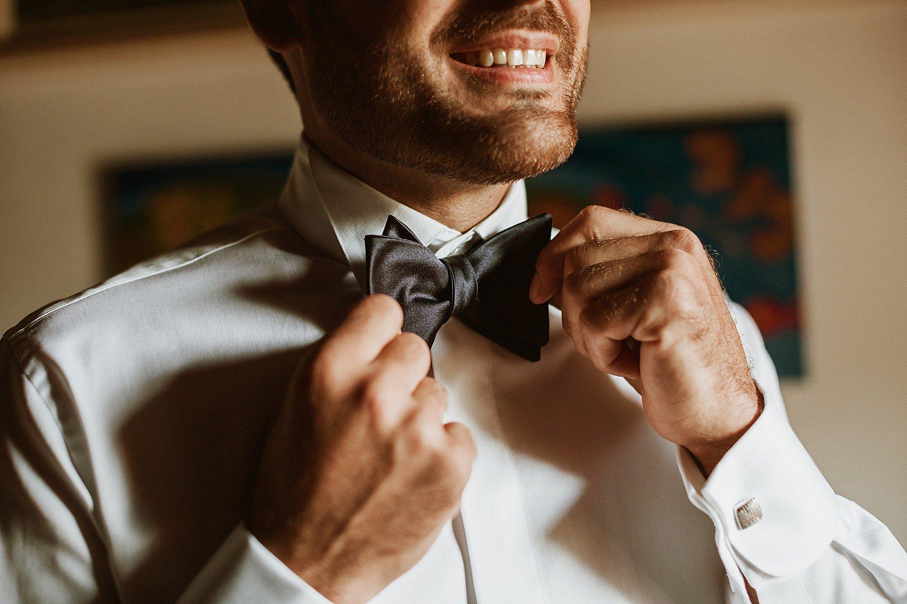sposo in preparazione