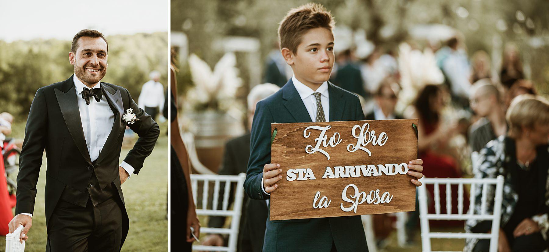 sposo in attesa della sposa